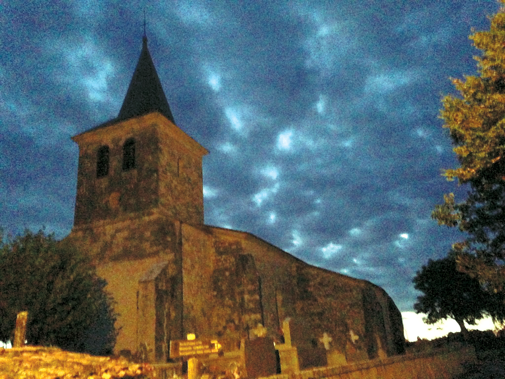 Village church before dawn