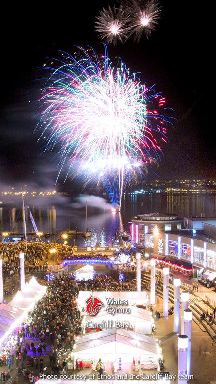 New Year's Eve in Cardiff Bay