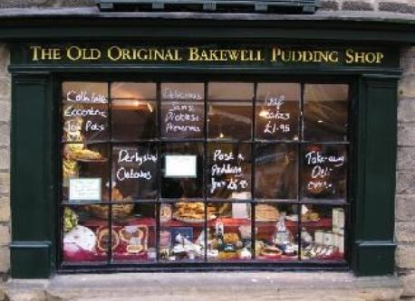 "Tres famoux en Angleterre - le magasin du ""pudding"" a Bakewell"
