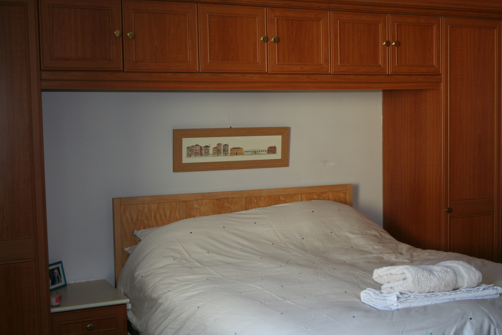 First floor master bedroom with king size bed