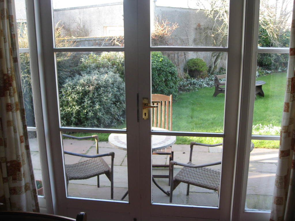 Doors from Dining Room to Garden