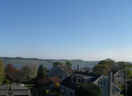 View south from master bedroom over River Tay to Fife