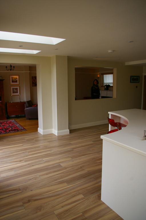 Large open plan kitchen/dining room