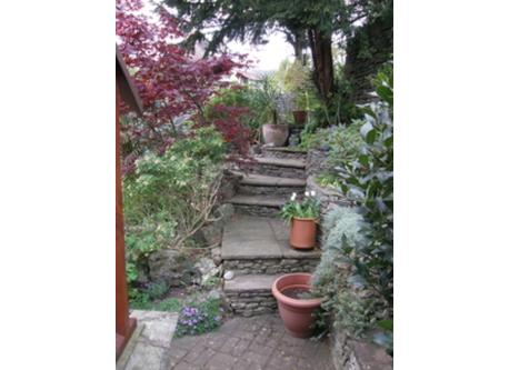 Garden terraced - lots of steps so not good for very young children.