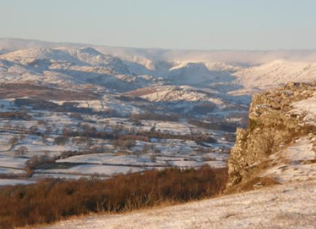 View (Winter!) from Scout Scar - a half hour walk from house.