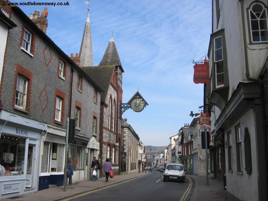 Lewes High Street - 3 minutes' walk  from our house