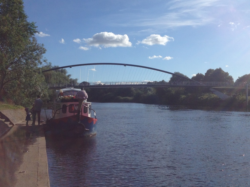 The Millennium Bridge and the ice cream boat are a few paces from our house