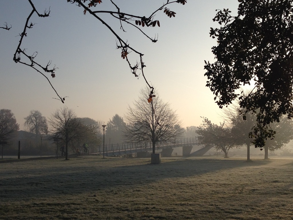 View from the garden on a frosty morning