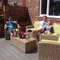 Enjoying our deck area