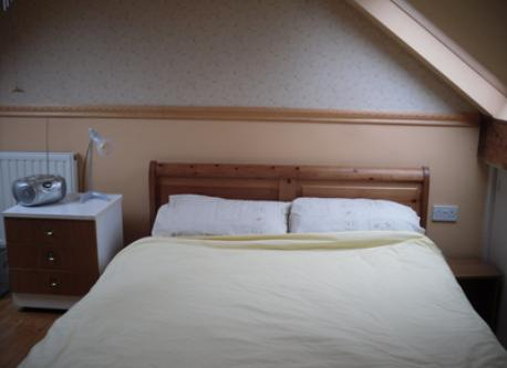 Double bed upstairs