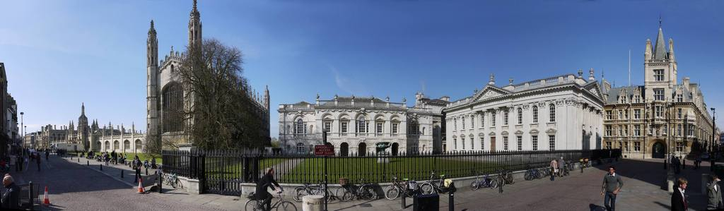 Panorama of King's Parade, Cambridge city centre