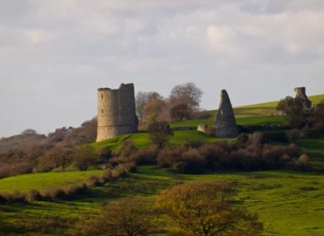Hadleigh castle and country park, ten minutes away by car or bus.