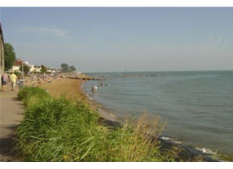 Chalkwell beach, 15 minutes walk away