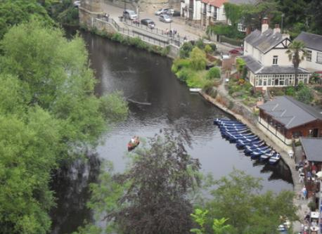 Enjoy a visit to Knaresborough by car or train.