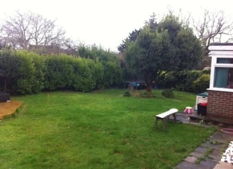 Rear garden, View from the lounge window