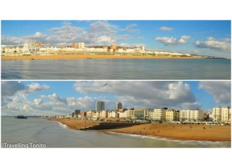 Panorama Brighton seafront