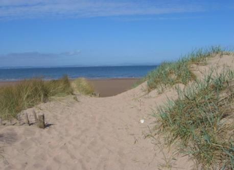 The beach in East Lothian, 20 minutes away