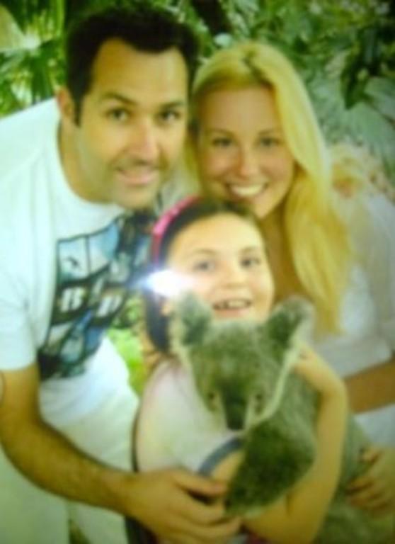 Simon, Katie and Jasmine - plus a furry friend!