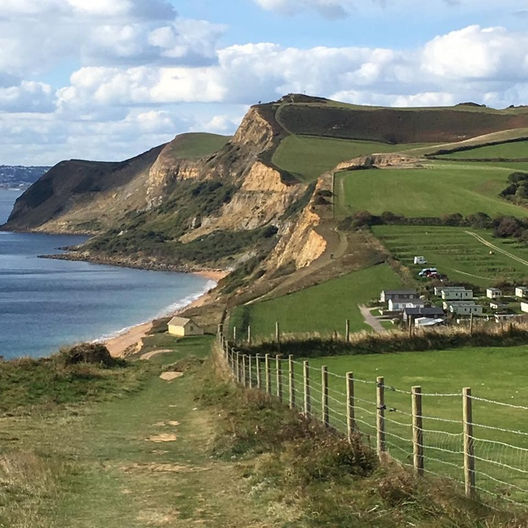 Nearest coast West Bay overlooking Eype