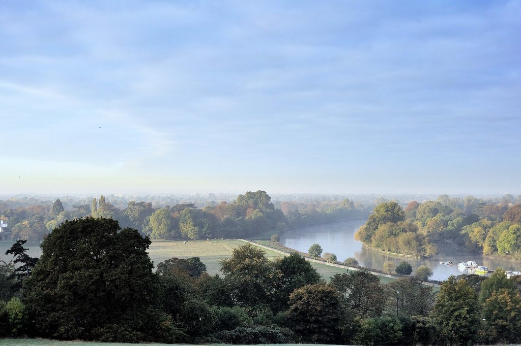 View from Richmond Hill - you can walk here through the park