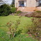The upper front garden & lawn