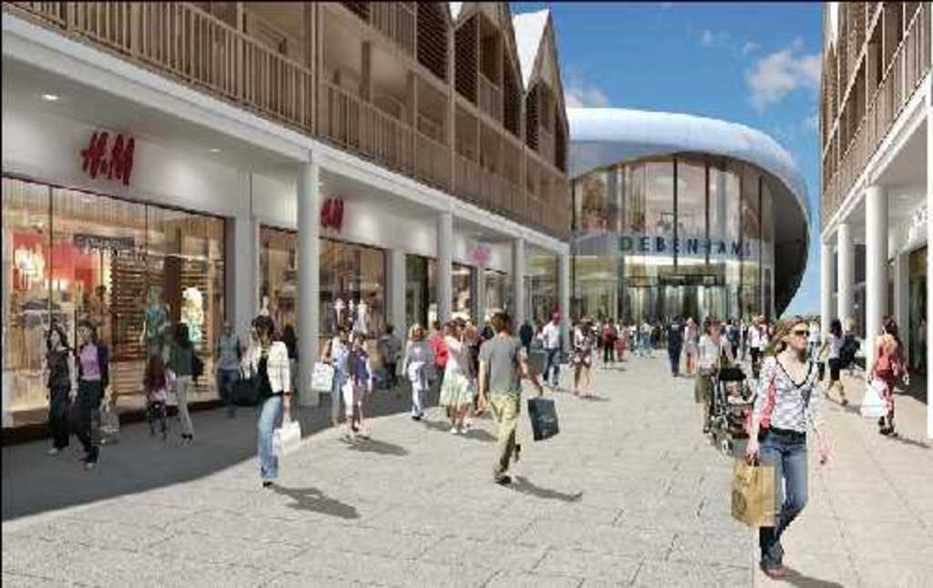 Modern shopping in nearby Bury St Edmunds