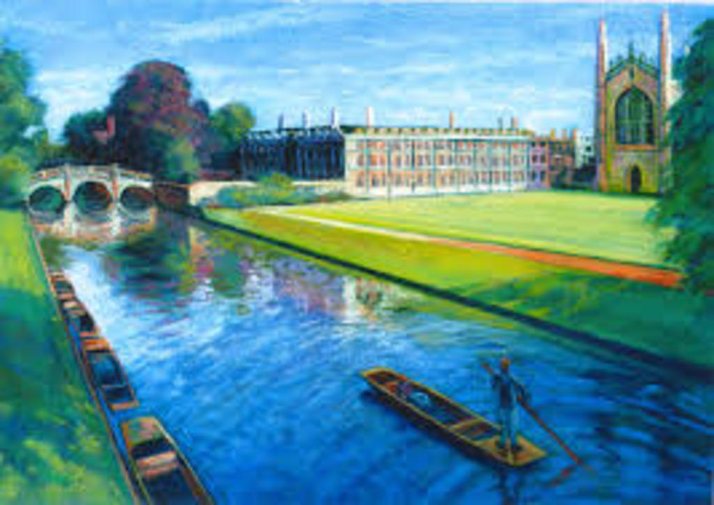 Cambridge Kings College Chapel and River Cam