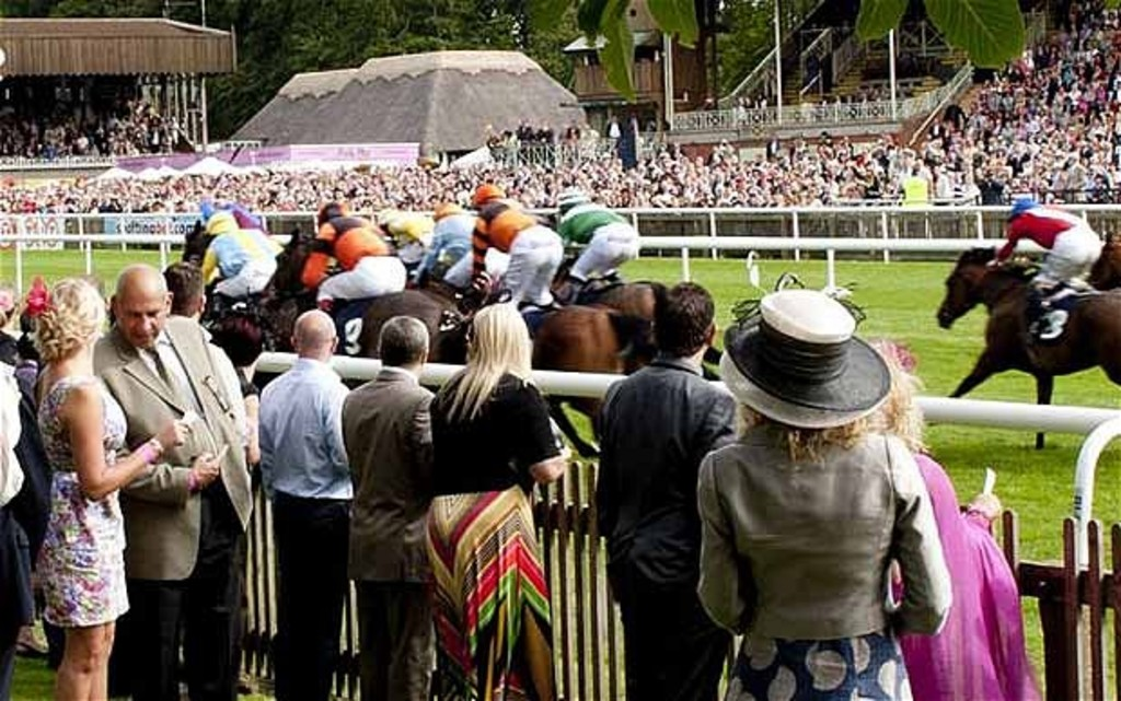 Horse racing at the July Course Newmarket