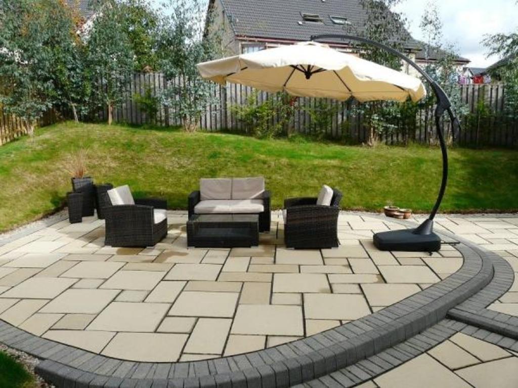 Back garden patio area