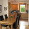 Dining table in open plan living/ dining room