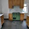 Kitchen with induction range cooker