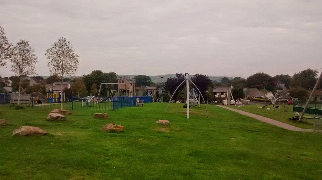 The children's playground - 2 minutes from our house.