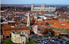 Aerial view York centre