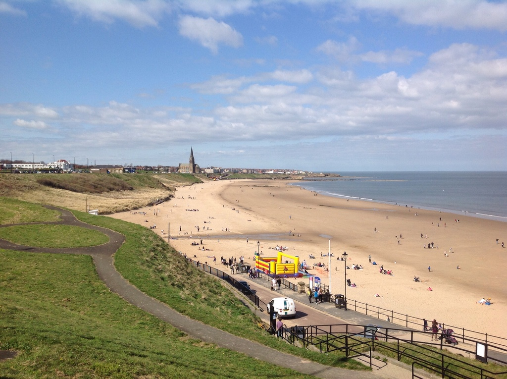 Tynemouth Longsands, this is the beach directly outside our house. It has a cafe open all year round. Surf lessons from Easte...