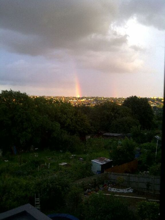 View from master bedroom window - can't guarantee rainbow!