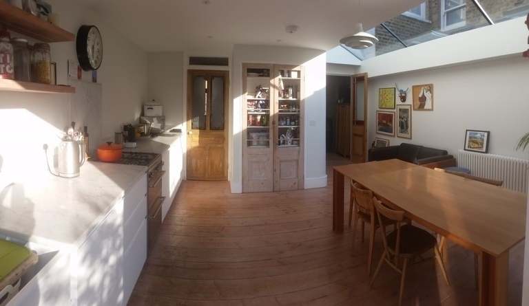Kitchen from the garden door