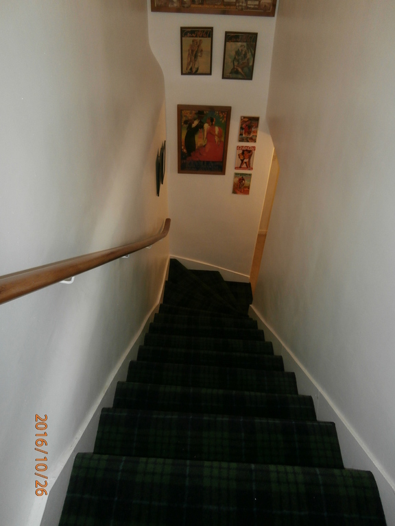 staircase to other half of the house