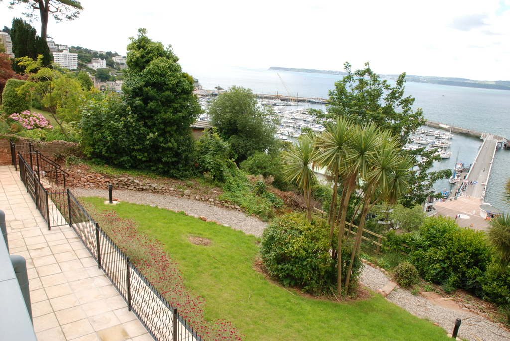 part of the garden overlooking the harbour