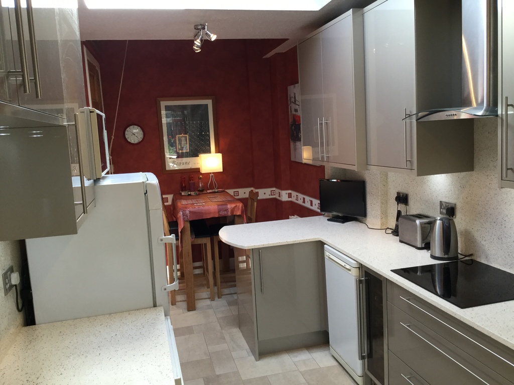 Recently renovated kitchen with breakfast table