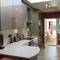 Recently renovated kitchen, looking towards garden room