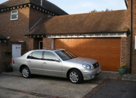 Front of house and double garage