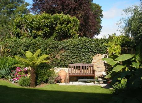 West side of rear garden