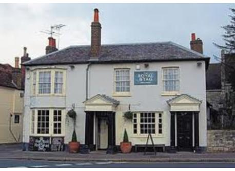 The Royal Stag in Datchet, a traditional English pub, which is 5 mins walk