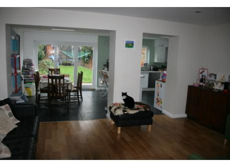 Middle lounge through to kitchen - downstairs all open plan