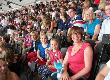 Family at London 2012 Olympic Games