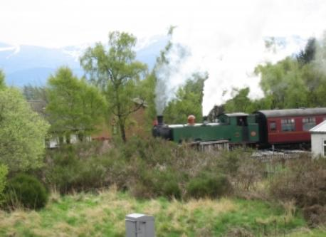 Steam Train. View from Cottage