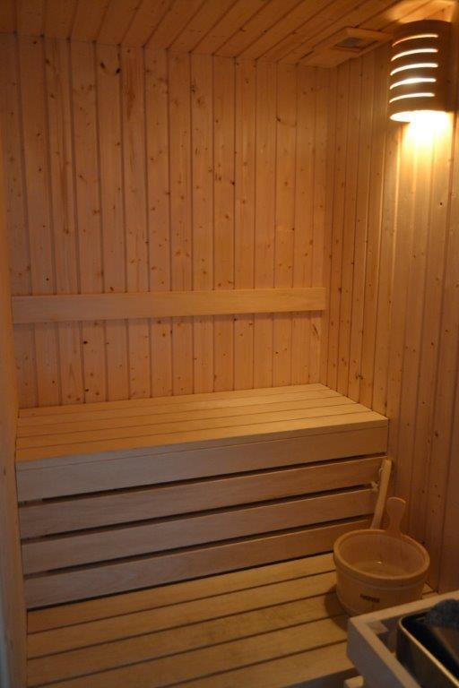 The sauna - perfect place to relax