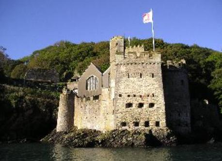 Dartmouth Castle, 15 minutes walk.