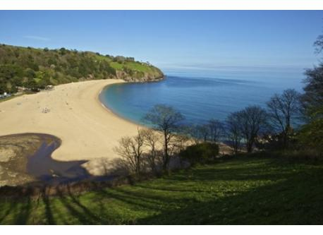 Blackpool sands beach, 5 minutes away. Easy access, good facilities, stunning setting.
