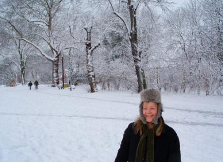 Snow in Ladywell Fields - our local park